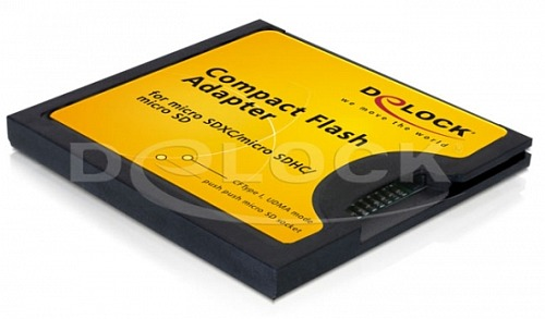 61795 - Delock Compact Flash Adapter > Micro SD Memory Cards