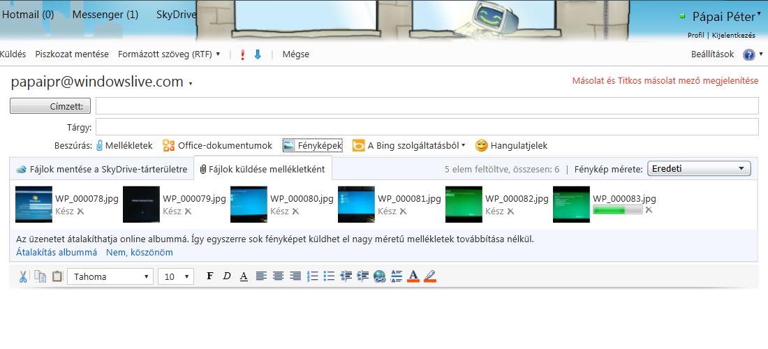 Google Drive-mellékletek küldése a Gmailben
