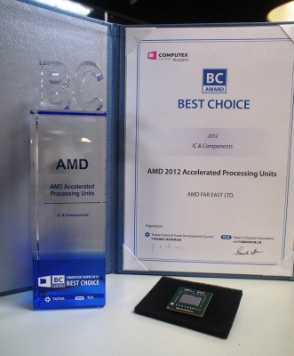 AMD Trinity APU - Computex Best Choice díj
