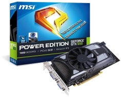 MSI GeForce GTX 650 alap és Power Edition verzió