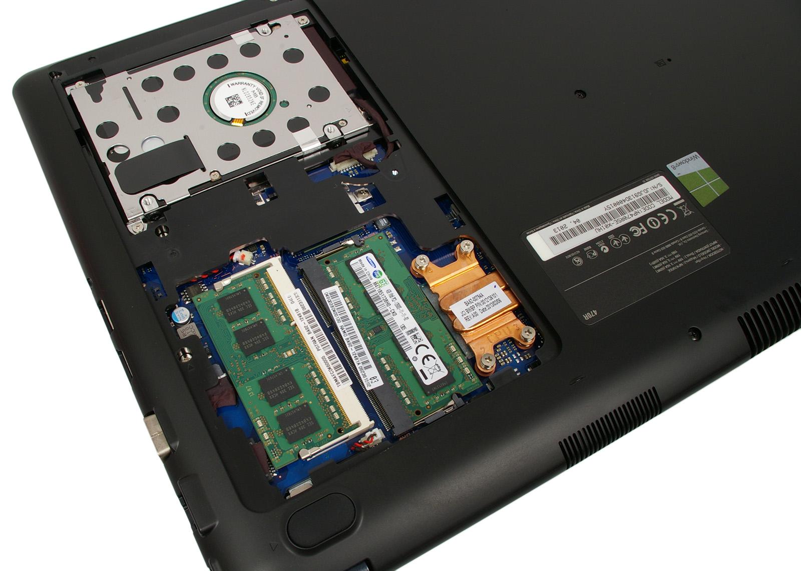 5d526a463610 ... 4 GB-os SO-DIMM modul formájában, de igény szerint ezt is  csereberélhetjük, ugyanis a HDD-vel közös fedél alatt bújik meg. [+]. A Samsung  ATIV Book ...
