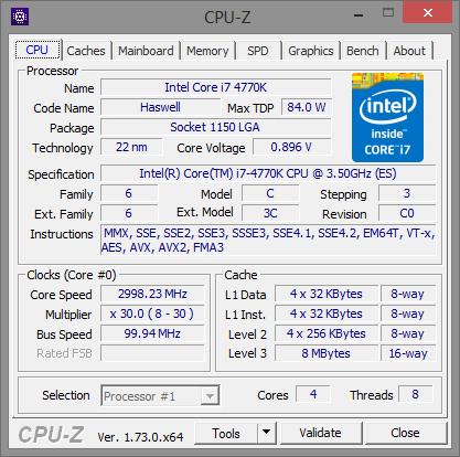 Intel Core I7 870 2600K 3770K 4770K 5775C 6700K