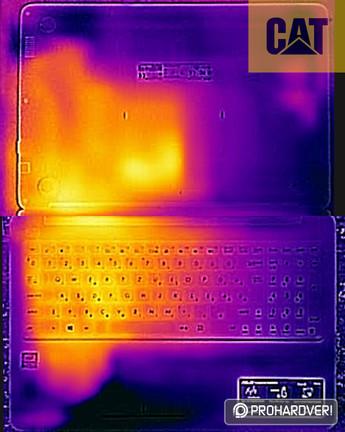 ASUS EeeBook E502SA terhelés alatt