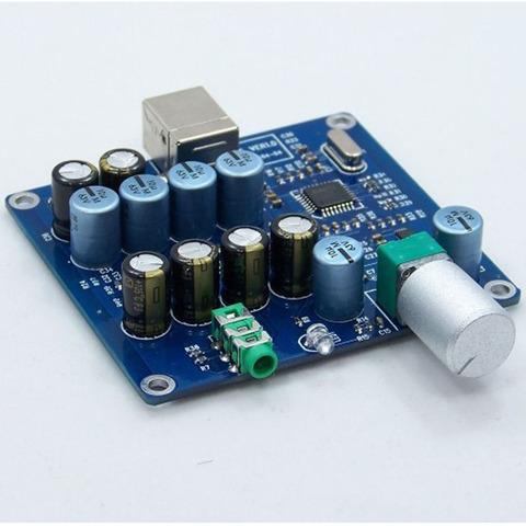 1. PCM2706 + CS4344 +Dual TDA1308 Parallel Output USB DAC Headphone  Amplifier 546d0a547a