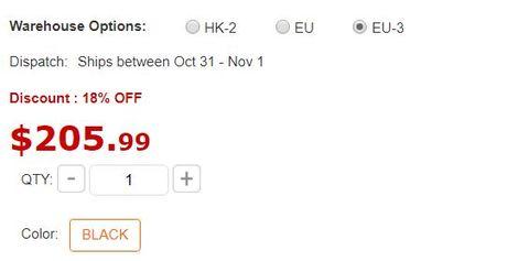 cbad1795cd32 Az EU-3 ár csak pár dollárral drágább mint a HK-2, az EU-s ár pedig 40  dollárral több. Lenne neki EU-s raktáruk is, az EU-3 pedig az eu  regisztrációs ...