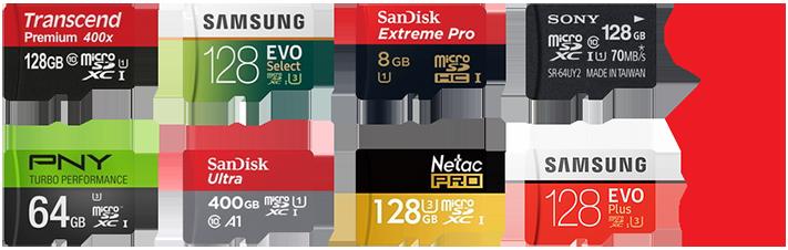 ... - néhány microSD kártya képe, a teljesség igénye nélkül...