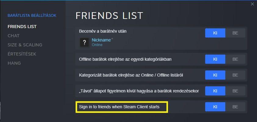 Friends list slot steam